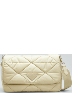 Tessuto Triangle Quilted Flap Shoulder Bag
