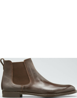 Tumbled Leather Chelsea Boots