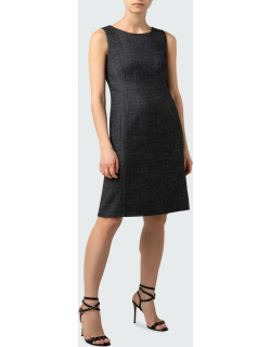 Stretch-Wool Double-Face Dress
