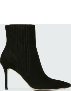 Lisa Suede Stiletto Ankle Booties