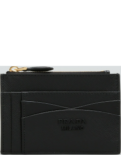 Small Zip Leather Card Case