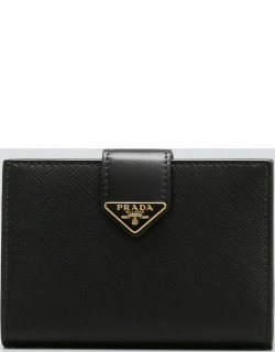 Small Triangle Logo Flap Wallet