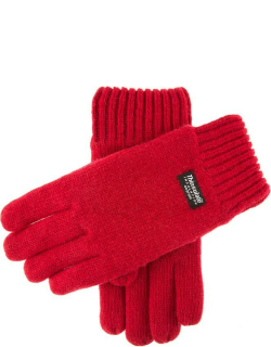 Dents Men's Thinsulate Lined Knitted Gloves In Berry