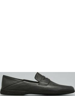 Men's Fold-Down Leather Penny Loafers