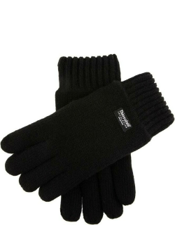 Dents Men's Thinsulate Lined Knitted Gloves In Black
