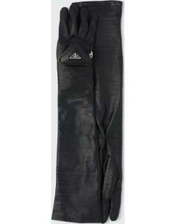 Long Napa Gloves w/ Triangle Zip Pouch