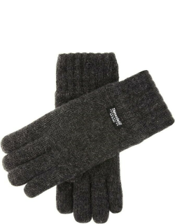Dents Men's Thinsulate Lined Knitted Gloves In Charcoal