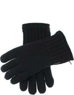 Dents Men's Thinsulate Lined Knitted Gloves With Zip In Black
