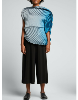 Planet Pleated Ombre Top