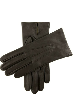 Dents Men's Silk Lined Leather Gloves In Brown