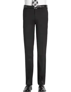 Awearness Kenneth Cole Men's AWEAR-TECH Black Extreme Slim Fit Suit Separates Pant