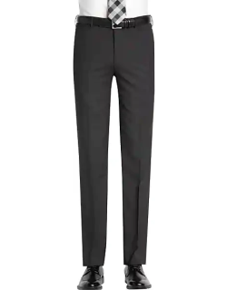 Awearness Kenneth Cole Men's AWEAR-TECH Charcoal Extreme Slim Fit Suit Separates Pant