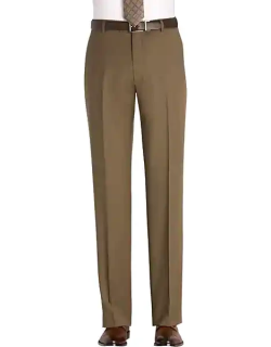 Awearness Kenneth Cole Men's Taupe Modern Fit Pants