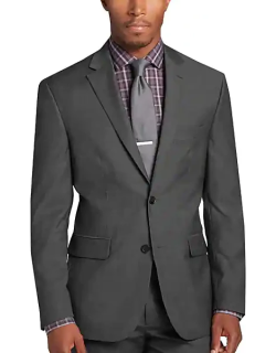 Awearness Kenneth Cole Executive Fit Men's Suit Separates Coat Gray Herringbone