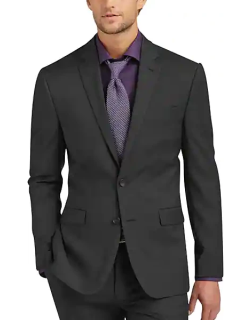 Awearness Kenneth Cole AWEAR-TECH Charcoal Extreme Slim Fit Men's Suit Separates Coat