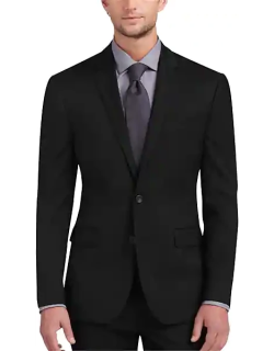 Awearness Kenneth Cole AWEAR-TECH Black Extreme Slim Fit Men's Suit Separates Coat