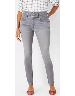 Ann Taylor Curvy Sculpting Pocket High Rise Skinny Jeans in Icy Grey