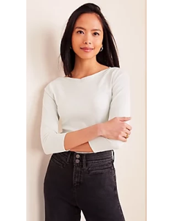 Ann Taylor Boatneck Luxe Tee