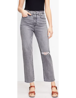 Loft Tall 90s Straight Jeans in Authentic Light Grey Wash