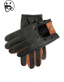 Dents The Suited Racer X Dents Two Colour Leather Driving Gloves In Black/tan