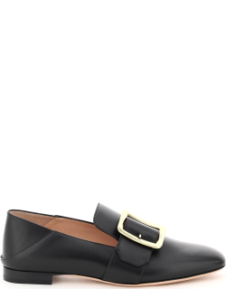 BALLY JANELLE LEATHER LOAFERS 37 Black Leather