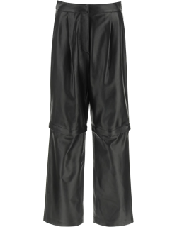 SPORTMAX 2 IN 1 NAPPA TROUSERS 42 Black Leather
