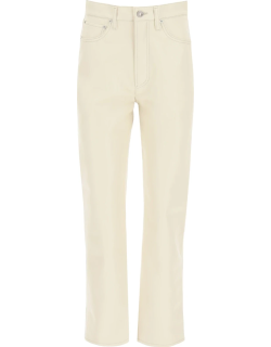 AGOLDE RECYCLED LEATHER TROUSERS 25 Beige Leather