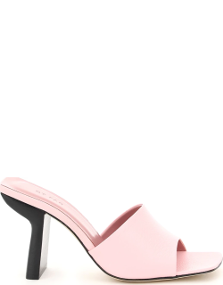BY FAR LILIANA LEATHER MULES 39 Pink Leather