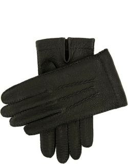 Dents Men's Handsewn Unlined Peccary Leather Gloves In Black