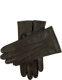 Dents Men's Handsewn Unlined Peccary Leather Gloves In Bark