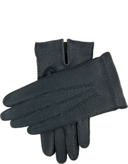 Dents Men's Handsewn Unlined Peccary Leather Gloves In Navy