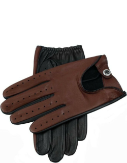 Dents Uk Men's Two Colour Leather Driving Gloves In M