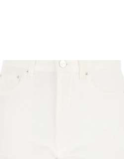 TOTEME JEANS WITH TWISTED SEAMS 27 White Cotton, Denim