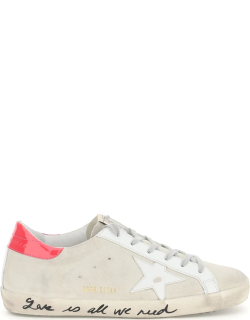 GOLDEN GOOSE SUPER STAR SNEAKERS 39 White, Grey, Pink Leather