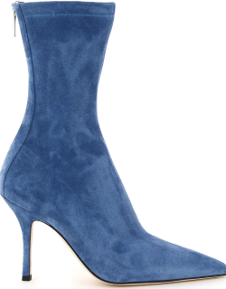 PARIS TEXAS MAMA ANKLE BOOTS IN SUEDE 38 Blue