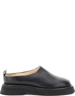 WANDLER ROSA LEATHER LOAFERS 38 Black Leather