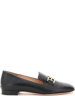 BALLY ELELY LOAFER 39 Black Leather
