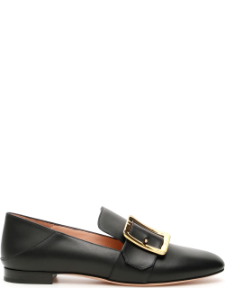 BALLY JANELLE LOAFERS 37 Black Leather