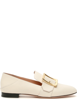 BALLY JANELLE LOAFERS 37 White Leather