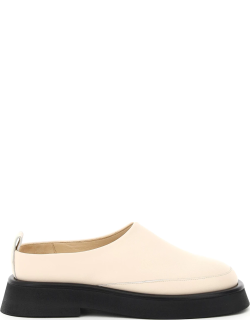 WANDLER ROSA LEATHER LOAFERS 38 White, Beige Leather