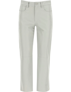 DROME CROPPED FIVE POCKET TROUSERS XS Grey Leather