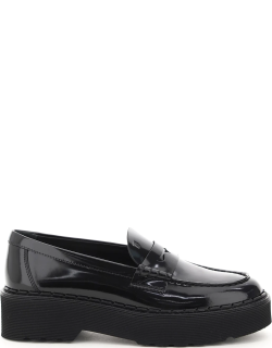 TOD'S PATENT LEATHER LOAFERS 38 Black Leather