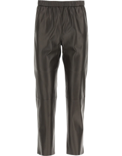 DROME NAPPA BAGGY JOGGERS XS Brown Leather