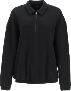 TOTEME SWEATER WITH EMBROIDERED MONOGRAM M Black Cotton