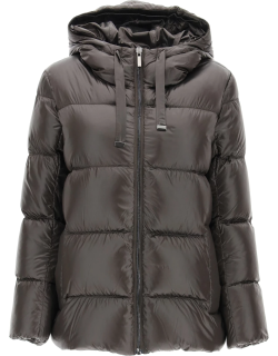 MAX MARA THE CUBE SPACEY HOODED JACKET 44 Brown Technical