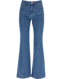 SEE BY CHLOE RECYCLED DENIM JEANS 26 Blue Cotton, Denim