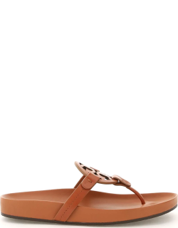 TORY BURCH MILLER CLOUD LEATHER MULES 7 Brown Leather
