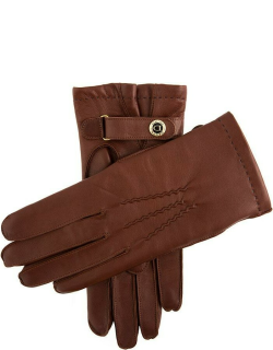 Dents Men's Cashmere Lined Leather Gloves In Eng Tan (Blue)