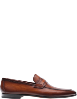 Men's Burnished Leather Keeper Loafers