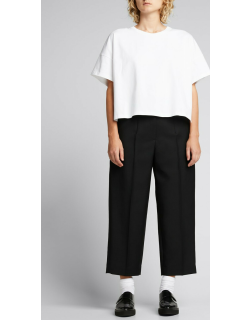 Tapered Wool-Blend Cropped Trousers